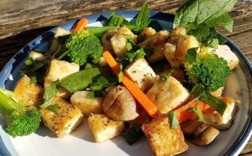 Fried Tofu Veggie Stir Fry