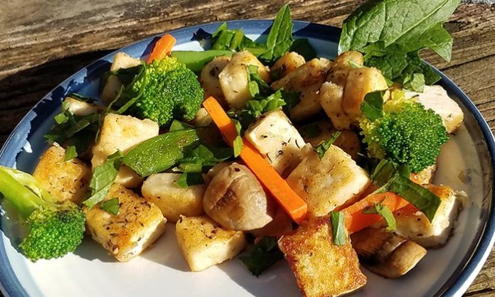 Fried Tofu Veggie Stir Fry