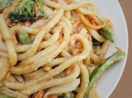 Peanut Lime Udon Noodles