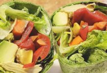 Veggie Packed Spinach Wraps