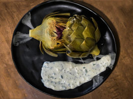 Braised Artichoke with Lemon Garlic Aioli