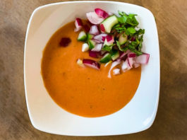 Citrus Marinated Watermelon Gazpacho