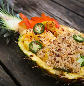 Jalapeno Pineapple Fried Rice Bowls