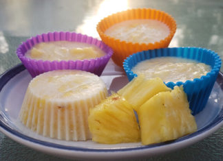 Dairy-Free Pineapple Ice Cream Cups