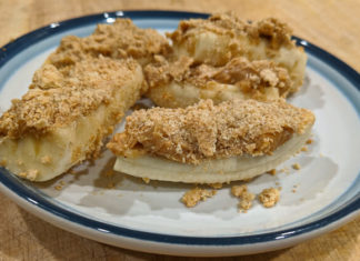 Frozen Peanut Butter Banana Crumble Bars