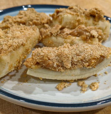 Frozen Peanut Butter Banana Crumble Bars